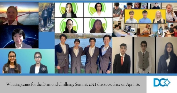 Winning teams for the Diamond Challenge Summit 2021 that took place on April 16.
