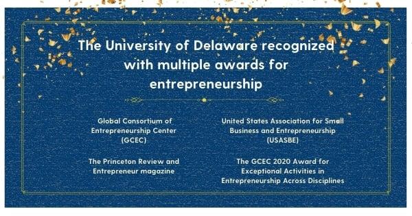 University of Delaware recognized with multiple awards for entrepreneurship 4